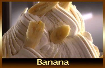 Sorbet with banana flavor
