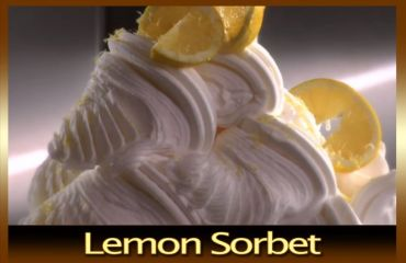 Sorbet with lemon flavor